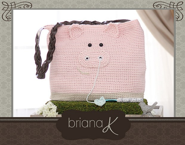 Pig Project Bag by Briana K