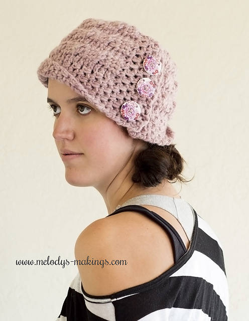 Cadence Cabled Cloche by Melody Rogers -Melodys Makings