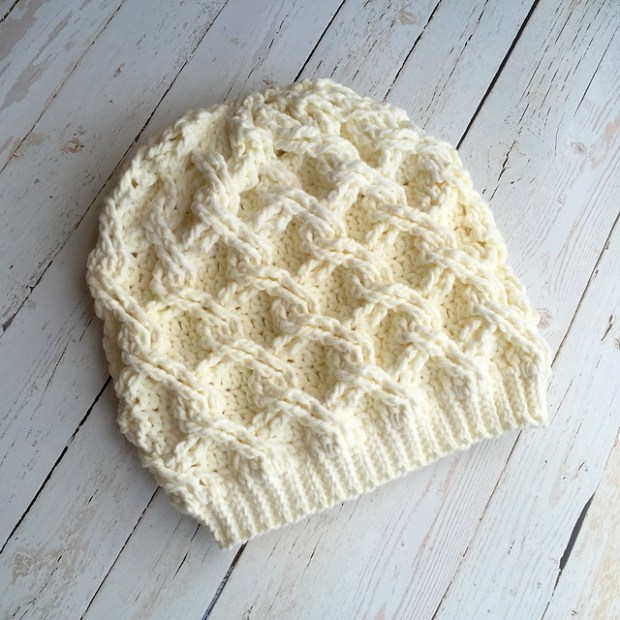Chain Link Slouch by Crochet by Jennifer -Jennifer Dougherty