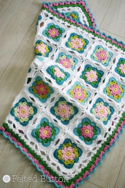 Cottage Garden Blanket by The Felted Button