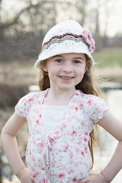 Endless Waves Sun Hat or Newsboy by Crystalized Designs