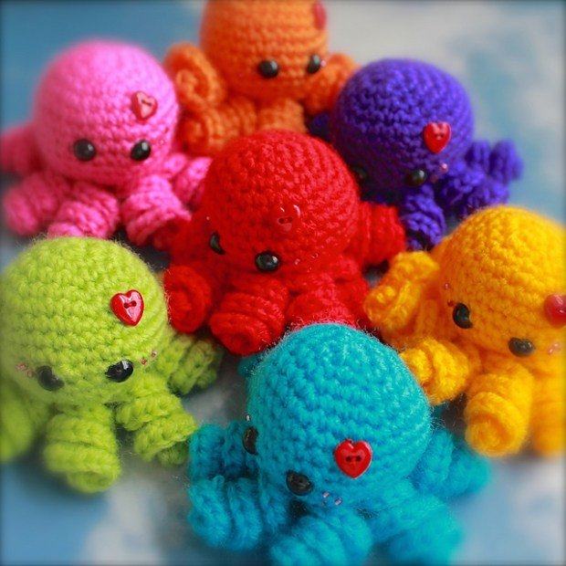 Mini Amigurumi Octopus by Sarah Hearn