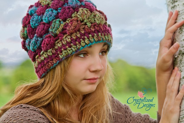 Samantha Beanie by Crystalized Designs -Crystal B