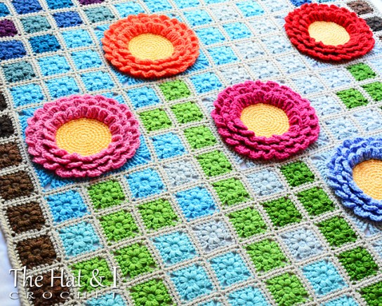 Garden Mosaic Blanket by The Hat & I