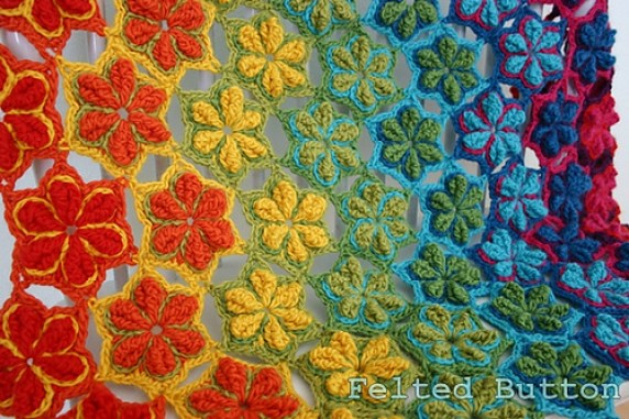 Star Fruit Blanket by Felted Button