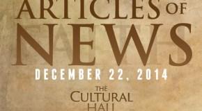Articles of News/Week of December 22nd