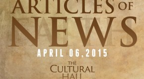 Articles of News/Week of April 6th