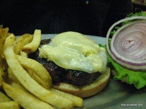 BullsHead Bleu Cheese Burger