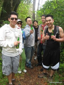 Tomales Bay Hiking with beer