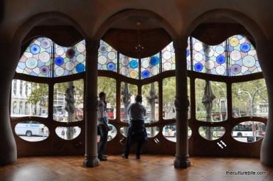 Barcelona Gaudi Casa Batllo Windows