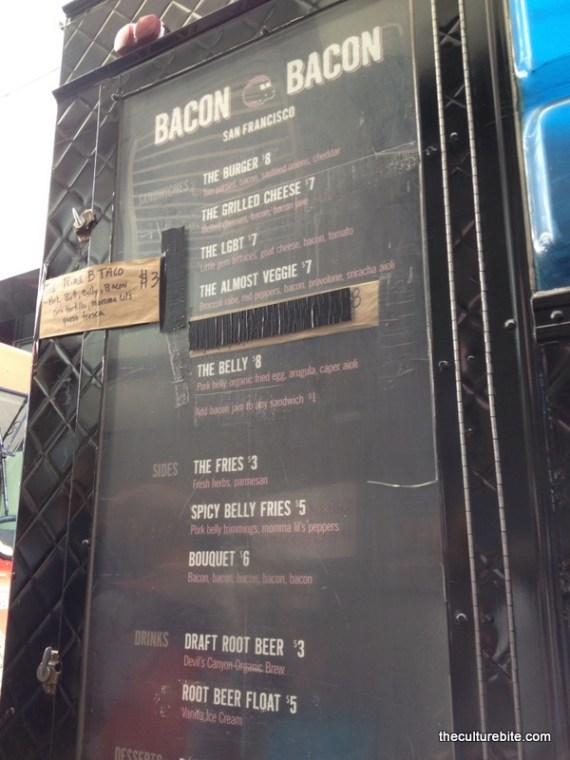 Bacon Bacon Menu