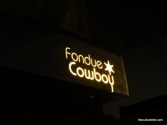 Fondue Cowboy Sign