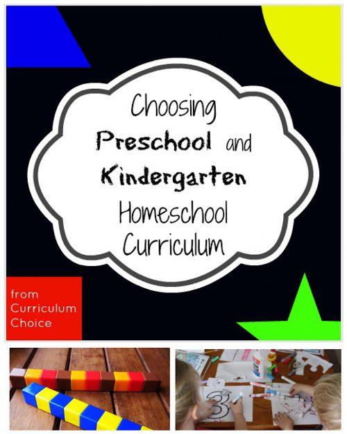 Choosing Preschool and Kindergarten Homeschool Curriculum - The