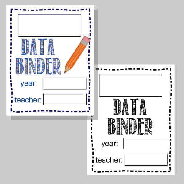 Student Data Binder Printables - The Curriculum Corner 123