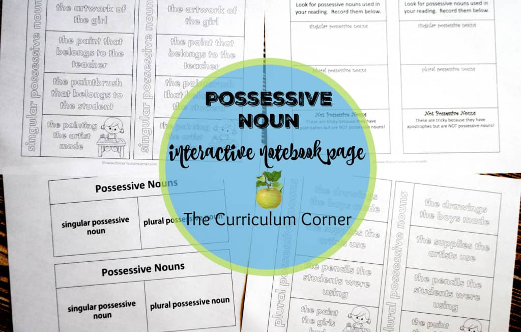 Focus on Possessive Nouns - The Curriculum Corner 123