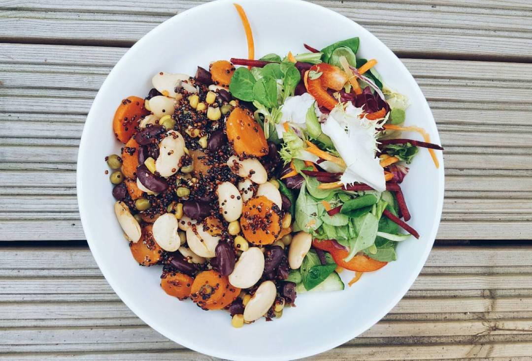 Red & Black Quinoa Bean Salad Recipe | The Curvaceous Vegan