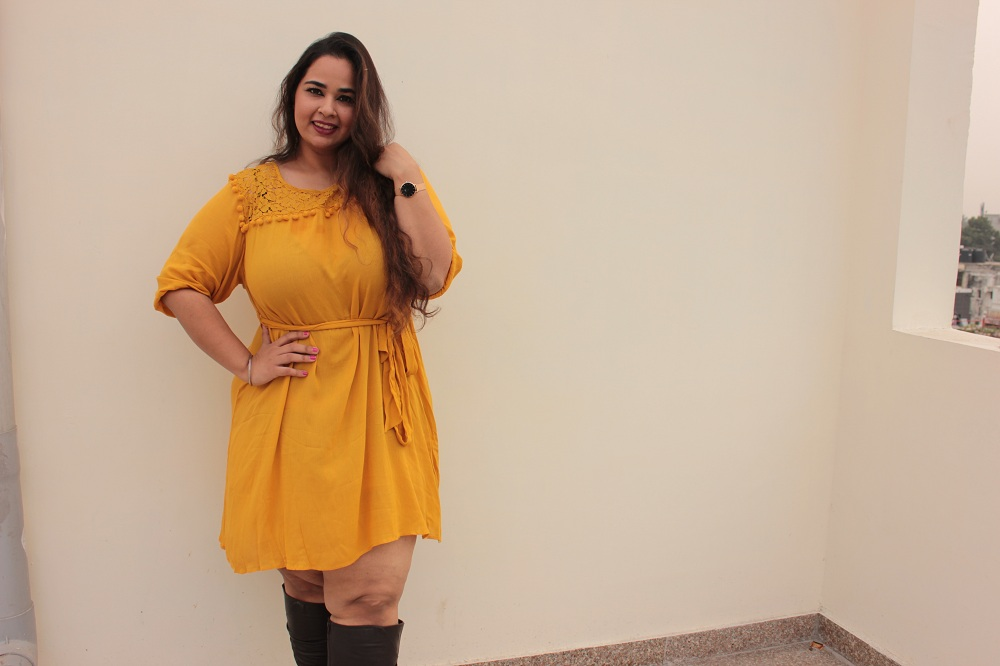 The Perfect little Mustard Dress For Curvy Bodies Ft Calae