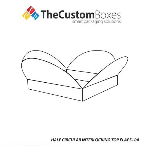 Precise  Elegant Half Circular Interlocking Boxes at Cheap Prices