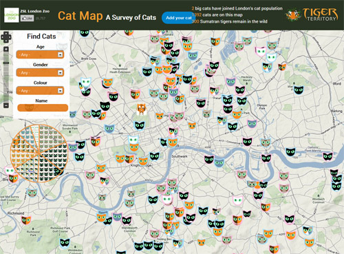 London Zoo's Cat Map