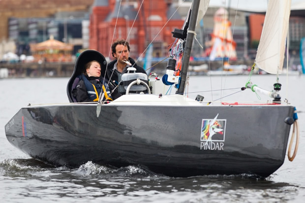 Hilary Lister at the Extreme Sailing Series Cardiff The Daily Sail
