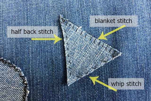 How to Patch Stretch Jeans so They Still Stretch \u2013 The Daily Sew