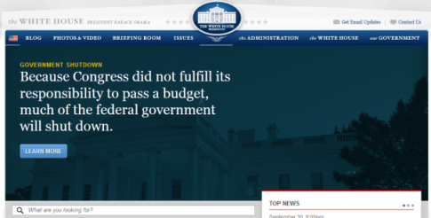 white-house-site-shutdown