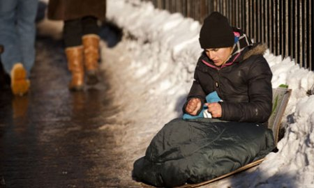 Image result for homeless in cold