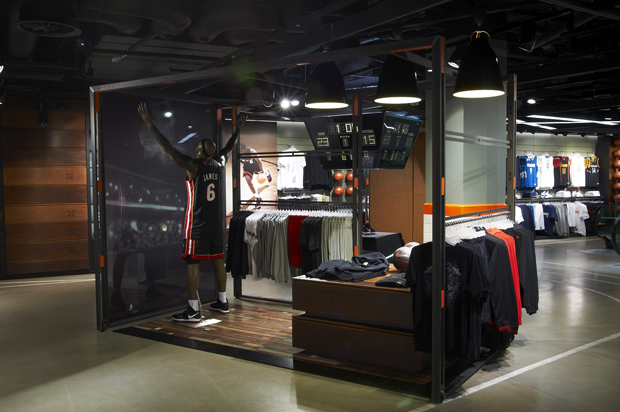 Nike Town London is in an imposing building on the northeast corner of Oxford Circus in central London. This opened as the UK's flagship Nike store in on the corner of Oxford Street and Regent Street. The heritage building dates back to the redevelopment of .