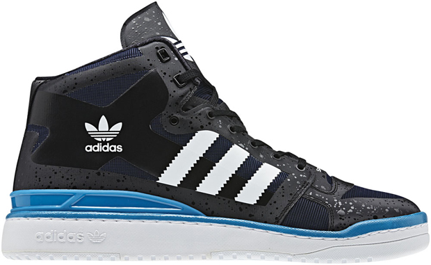 adidas forum mid crazy light black cyan