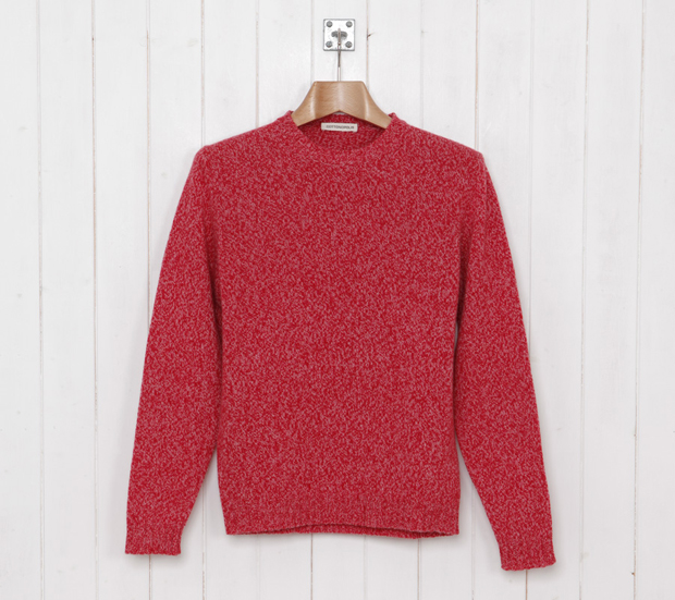 Cottonopolis-Elbow-Patch-Crew-Knit-Red-Marl-£99