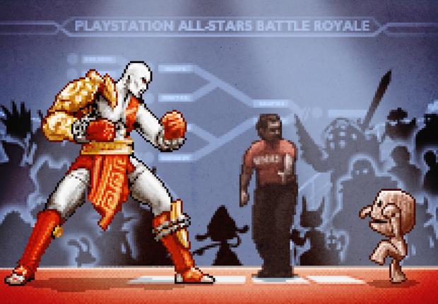 Aled-Lewis-PlayStation-Karate-Kid-Kratos-Sackboy