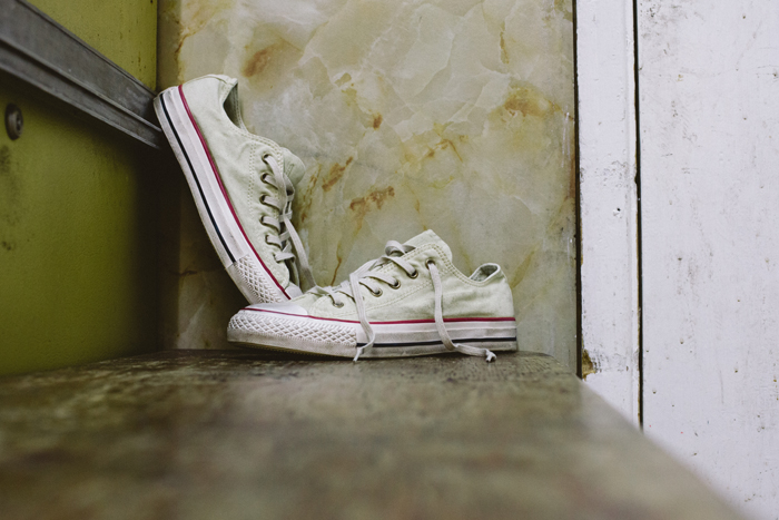 Converse Well Worn Collection white shot by The Daily Street 03