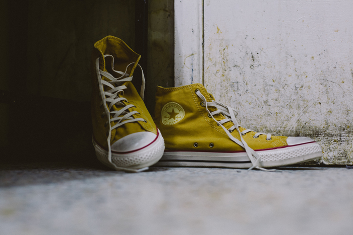 Converse Well Worn Collection yellow shot by The Daily Street 02
