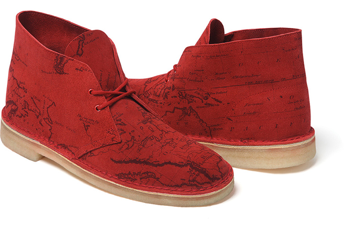 Supreme x Clarks Originals Map Suede Desert Boots 05