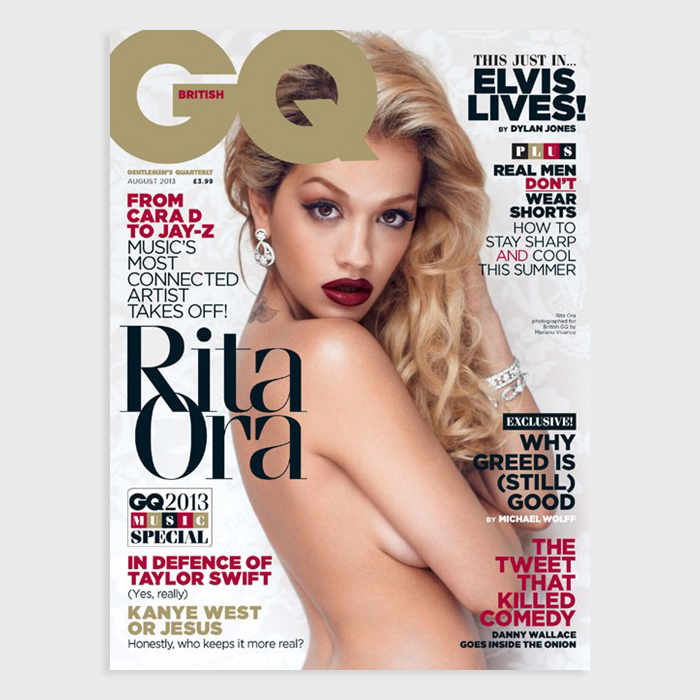 Rita Ora covers August 2013 issue British GQ 02