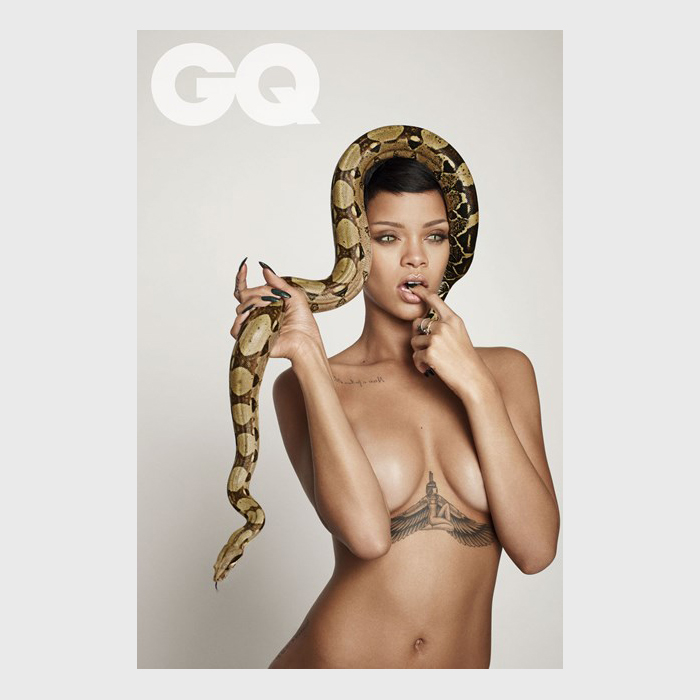 Rihanna by Damien Hirst for British GQs 25th Anniversary Issue 02