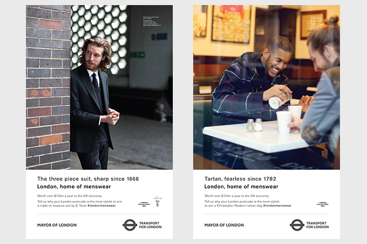 London Home of Menswear TFL London Collections Men Advertising Campaign Posters 001
