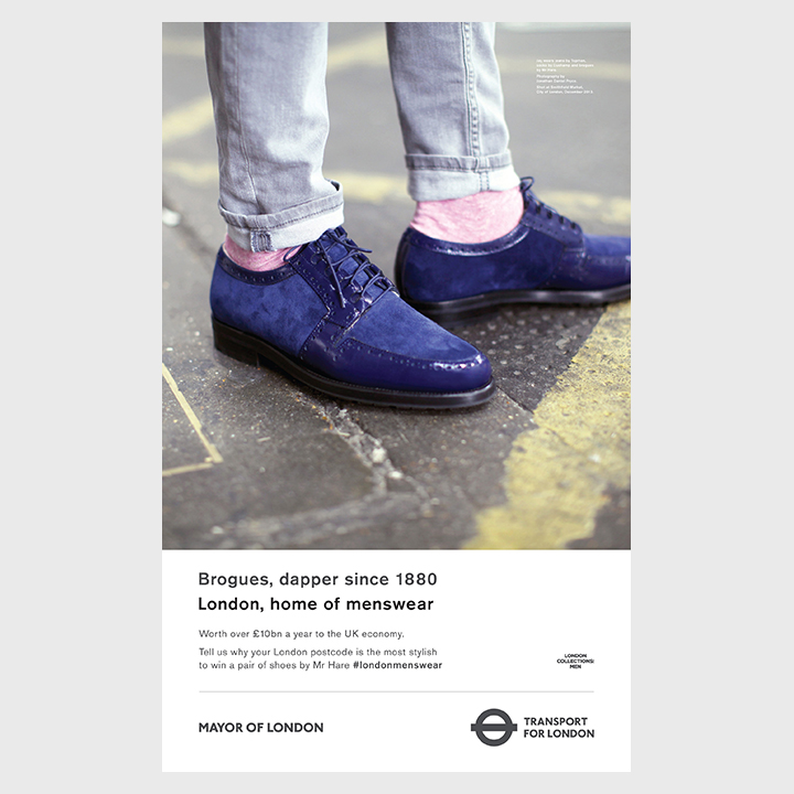 London Home of Menswear TFL London Collections Men Advertising Campaign Posters 004