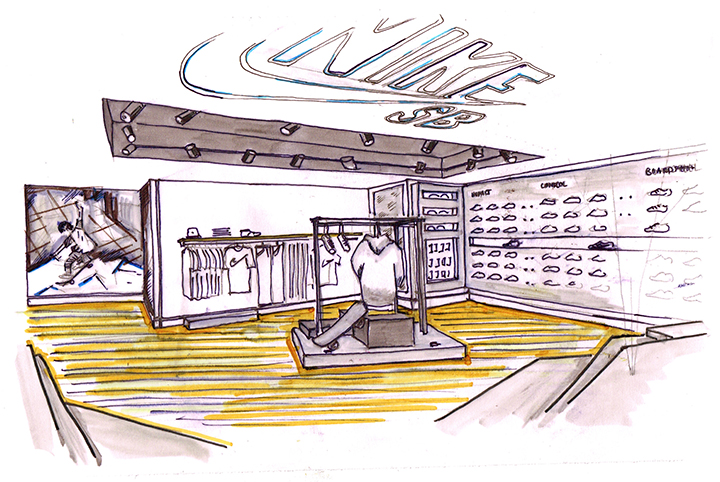 Nike SB London Store size Carnaby Street Design Sketch The Daily Street 002