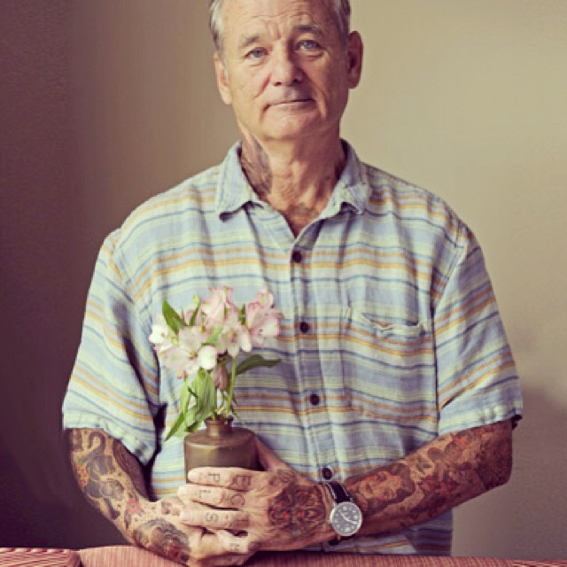 Bill Murray With Tattoos By Artist Cheyenne Randall