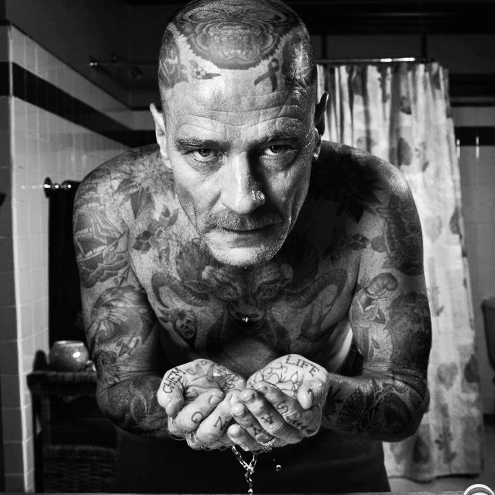 Bryan Cranston With Tattoos By Artist Cheyenne Randall