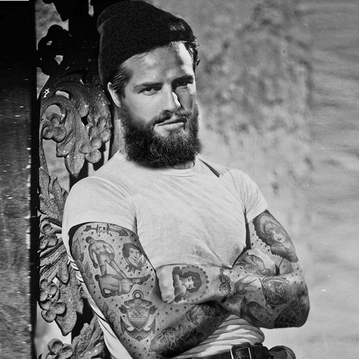 Marlon Brando With Tattoos By Artist Cheyenne Randall