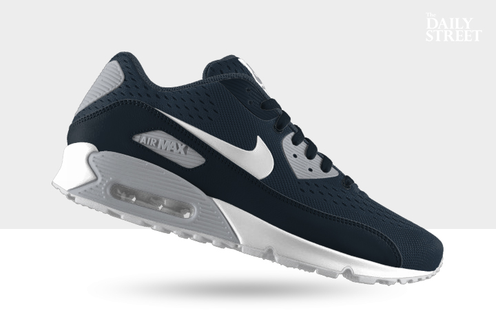 NIKEiD Air Max 90 Engineered Mesh Armory Navy Wolf Grey 001