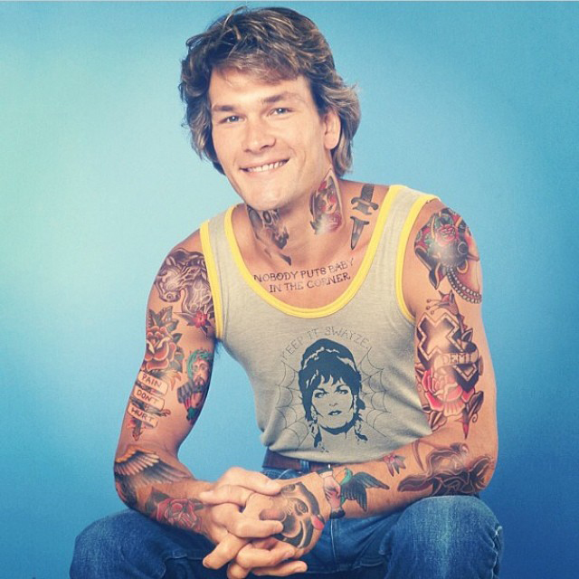 Patrick Swayze With Tattoos By Artist Cheyenne Randall