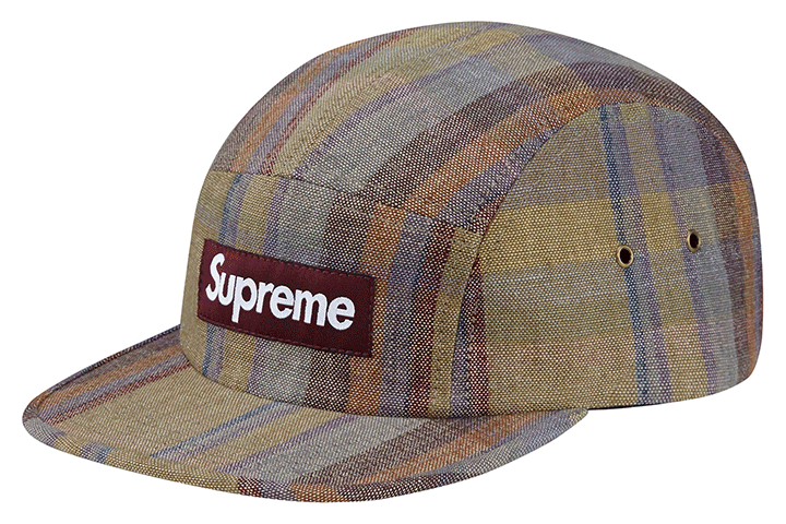 Supreme plaid linen camp caps 003