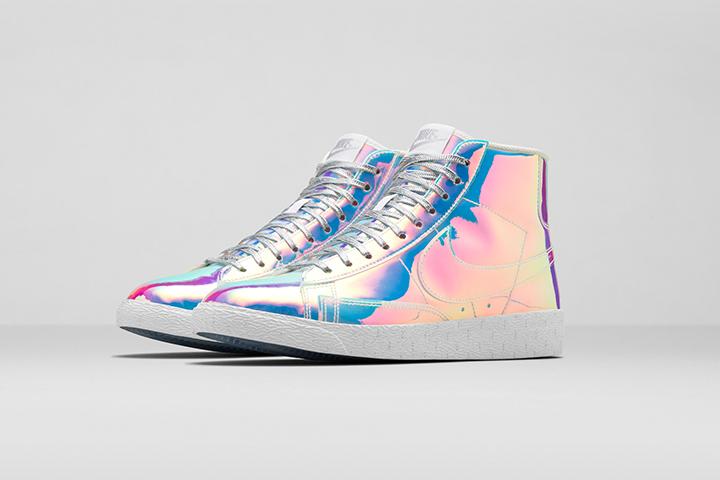 Nike Blazer Mid Premium QS Iridescent Womens 002