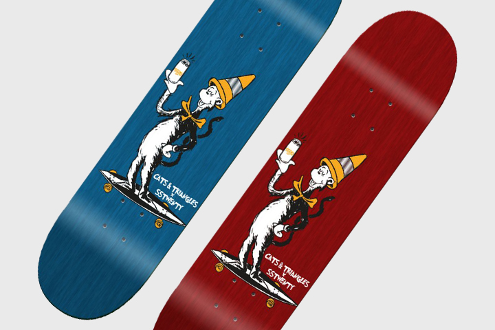 Cats and Triangles SS20 Cat In The Hat Skateboard deck 001