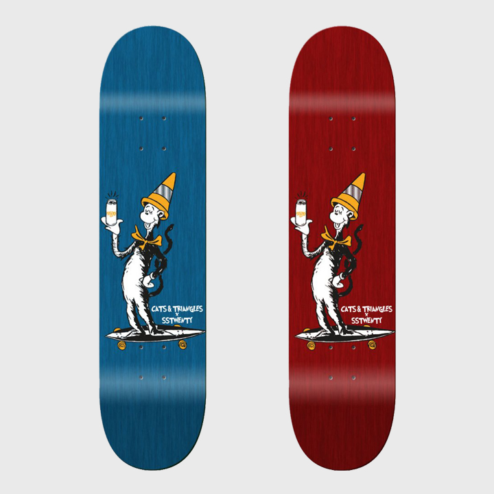 Cats and Triangles SS20 Cat In The Hat Skateboard deck 002