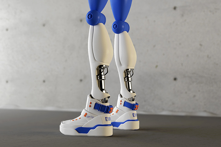 Retro Future Robotics robot sneakers simeon georgiev 02