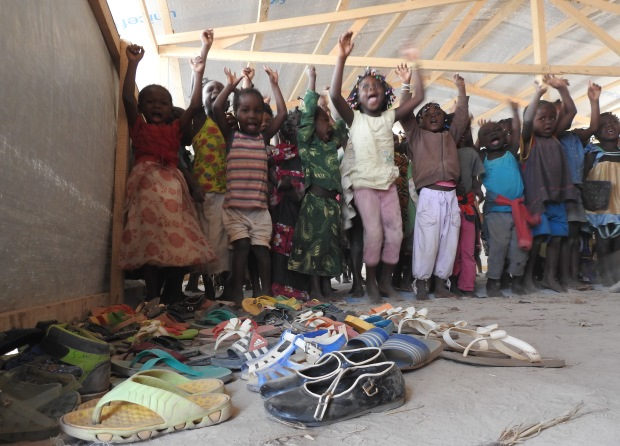 children at Mkopo refugee camp, Bangui, CAR